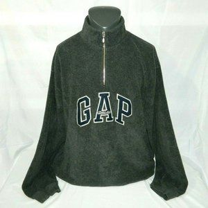 Gap Athletic Mens XL quarter Zip Fleece Spellout